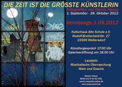 """Ramin Hesse - """"Die Zeit ist die größte Künstlerin"""""""