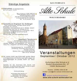 Programm September/ Oktober 2012
