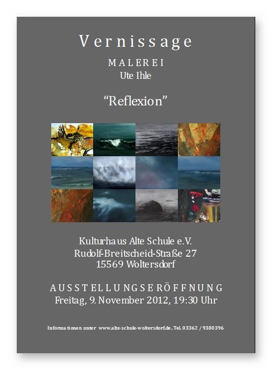 """Ausstellung von Ute Ihle - """"Reflexion"""""""