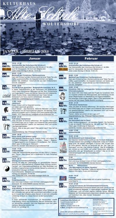 Programm Januar/Februar 2014