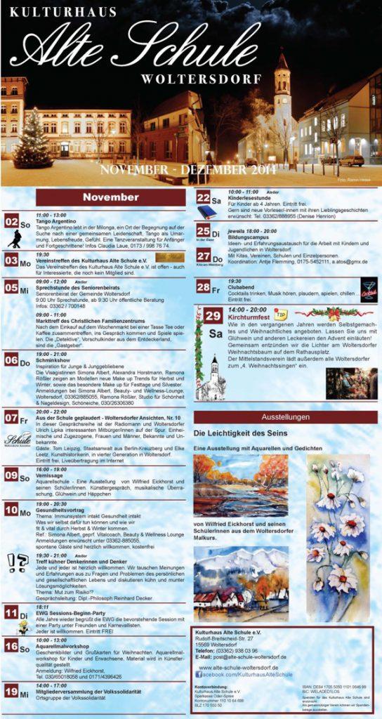 Programm November/Dezember 2014 (Vorderseite)