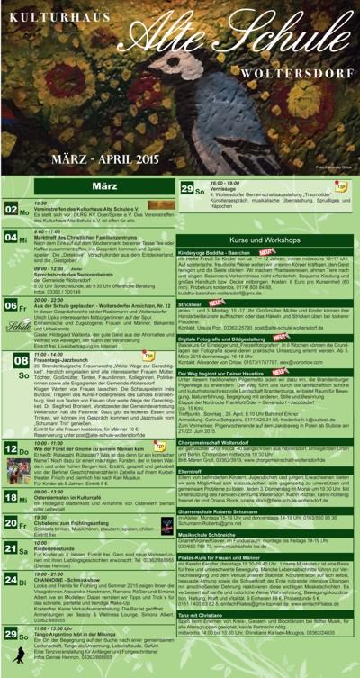 Programm März/April 2015 (Vorderseite)