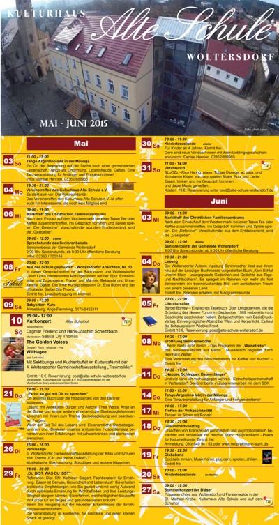 Programm Mai/Juni 2015
