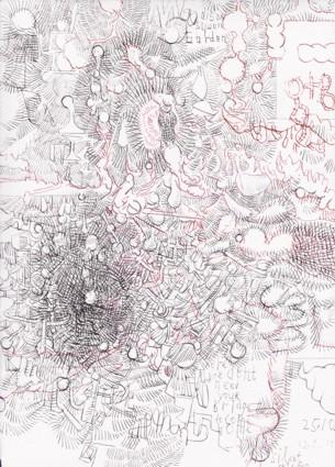 Frank Diersch, Silent Move, 2015 Tuschfeder auf Bütten, 30 x 21 cm