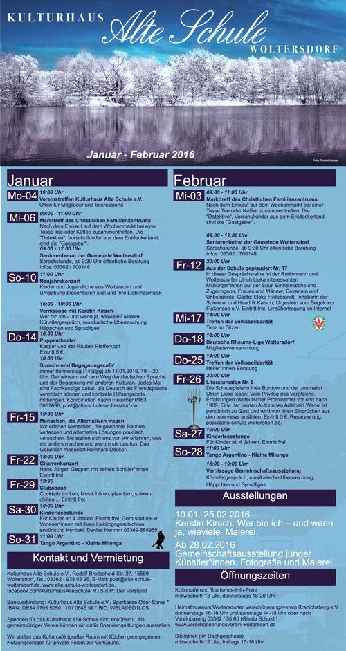 Programm Januar/Februar 2016