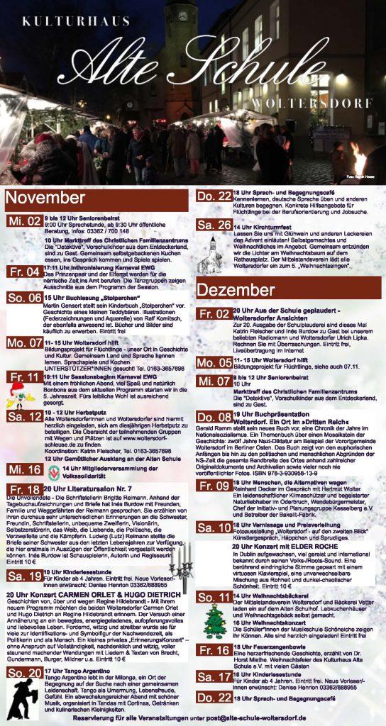 Programm November/Dezember 2016