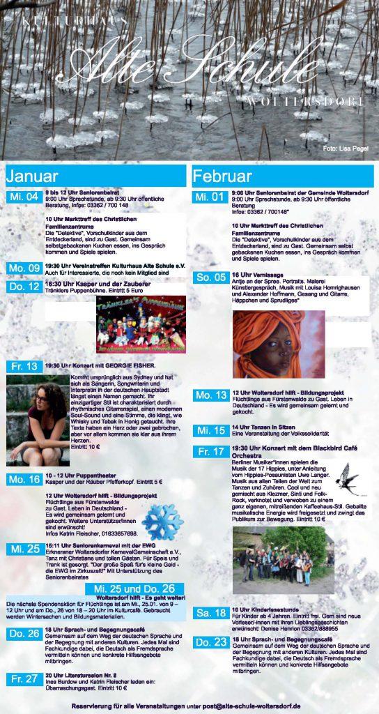 Programm Januar/Februar 2017