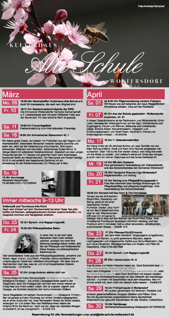 Programm März/April 2017