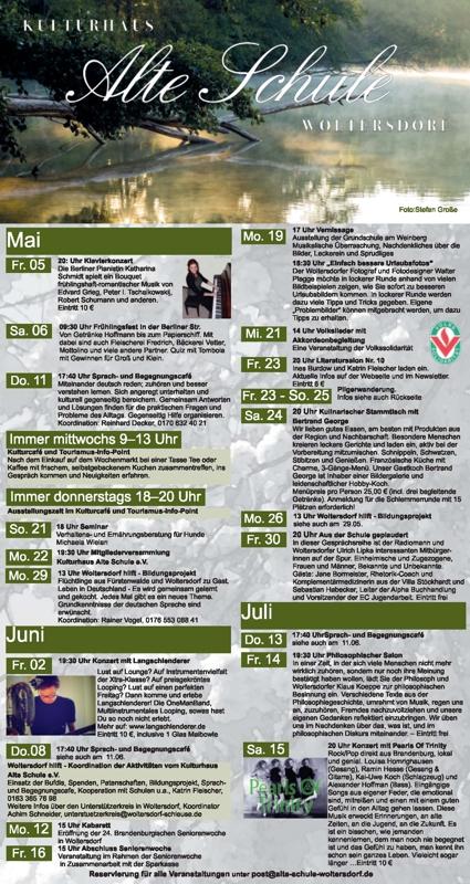 Programm Mai/Juni 2017