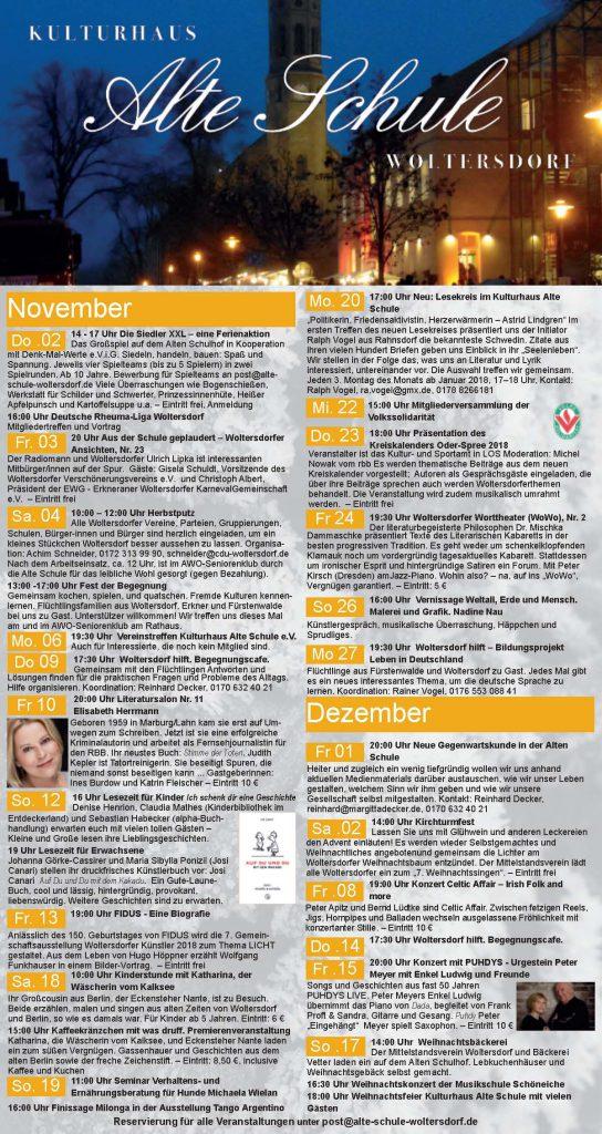 Programm November/Dezember 2017